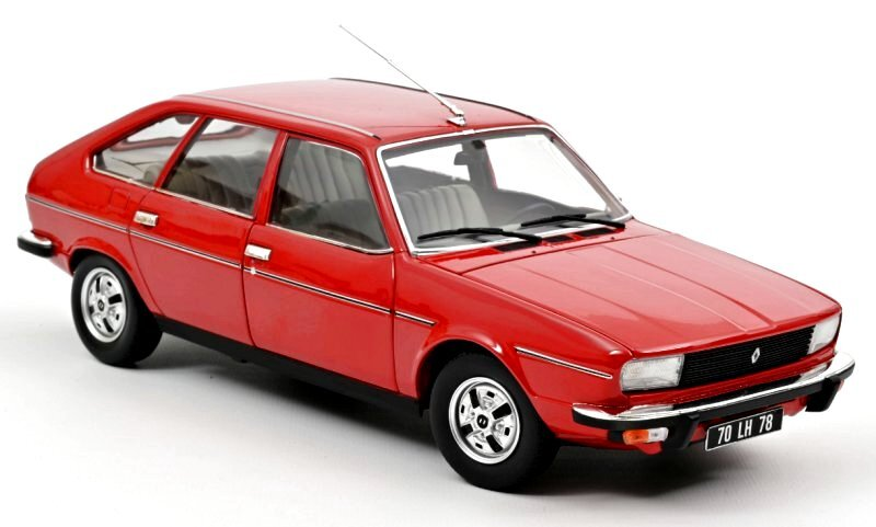RENAULT 20 TS - 1979 - red - Norev 1:18