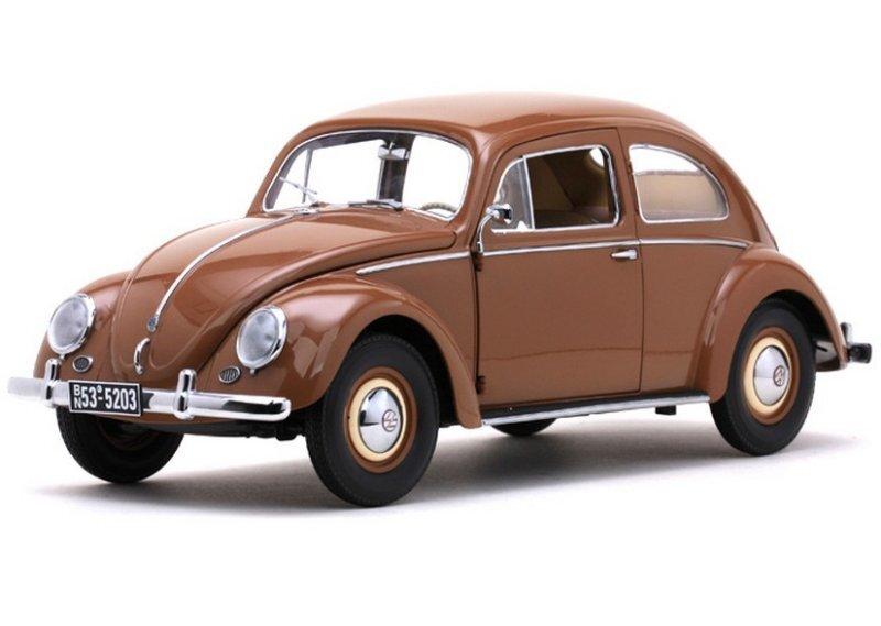 VW Volkswagen Käfer / Beetle Saloon - 1953 - brown - Sun Star 1:12