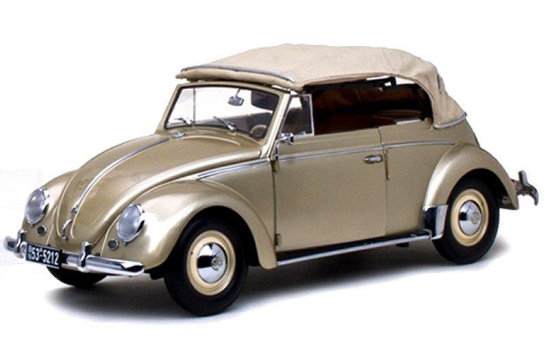 VW Volkswagen Käfer / Beetle Cabrio - 1953 - beigemetallic - Sun Star 1:12