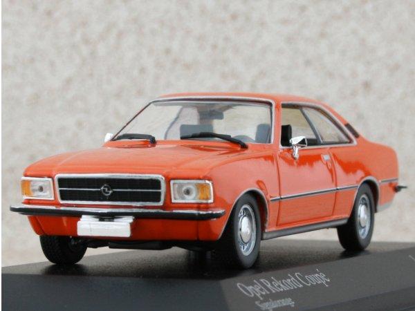 OPEL Rekord Coupe - 1975 - orange - Minichamps 1:43