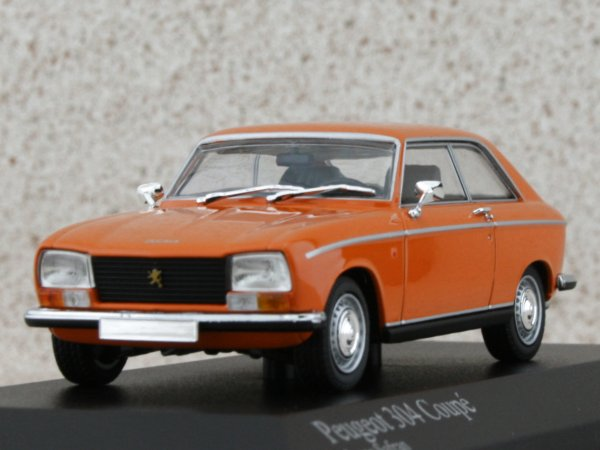 PEUGEOT 304 Coupe - 1972 - Jaune Safran - Minichamps 1:43