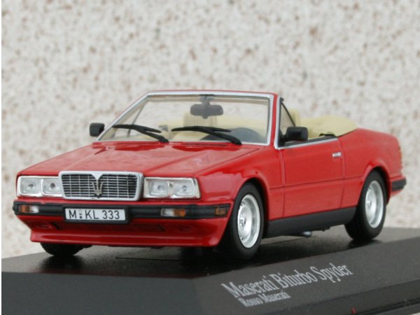 MASERATI Biturbo Spyder - 1986 - red - Minichamps 1:43