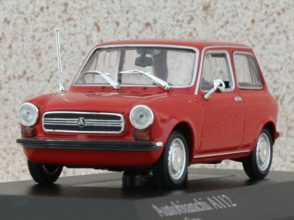 AUTOBIANCHI A112 - 1974 - red - Minichamps 1:43