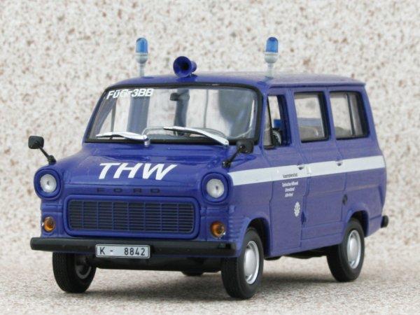FORD Transit - THW Köln - 1977 - blue - Minichamps 1:43