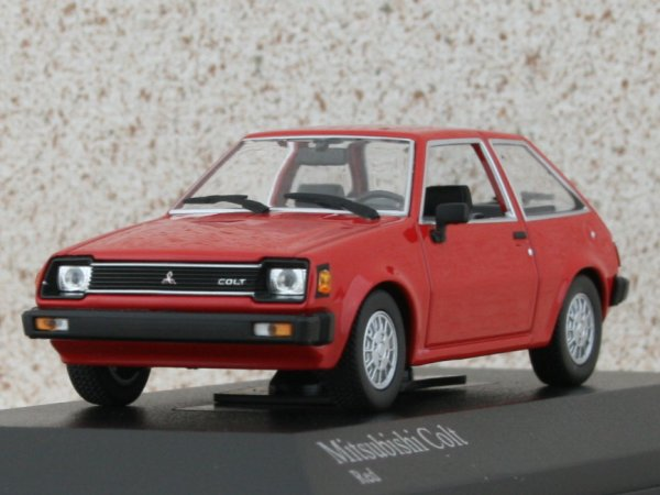 MITSUBISHI Colt - 1978 - red - Minichamps 1:43