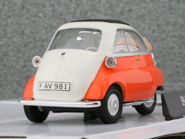 BMW Isetta 250 - white / orange - Carama 1:43