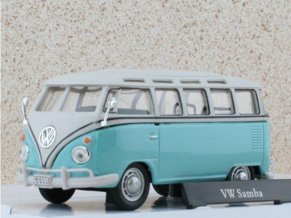 VW Volkswagen T1 Samba - lightblue - Carama 1:43