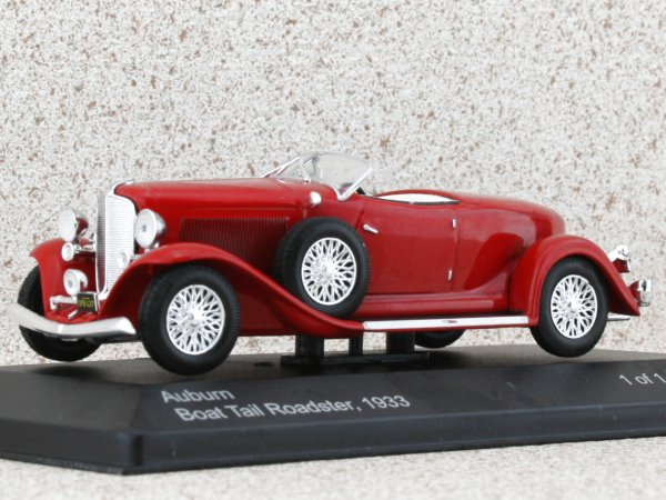 AUBURN Boat Tail Roadster - 1933 - red - WhiteBox 1:43