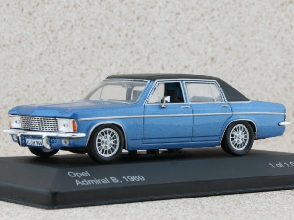 OPEL Admiral B - 1969 - bluemetallic - WhiteBox 1:43
