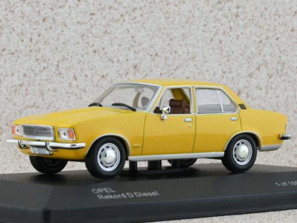 OPEL Rekord D Diesel - yellow - WhiteBox 1:43