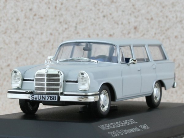 MB Mercedes Benz 230 S Universal - 1967 - grey - WhiteBox 1:43