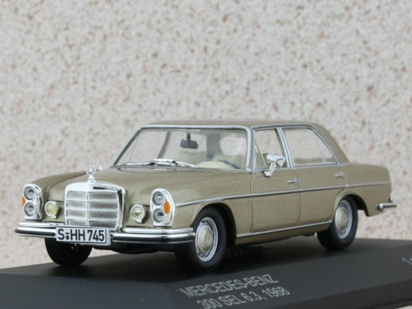 MB Mercedes Benz 300 SEL 6.3 - 1968 - beigemetallic - WhiteBox 1:43