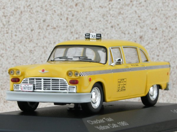 CHECKER New York Taxi Cab - 1980 - NYC Taxi - WhiteBox 1:43 #WB024