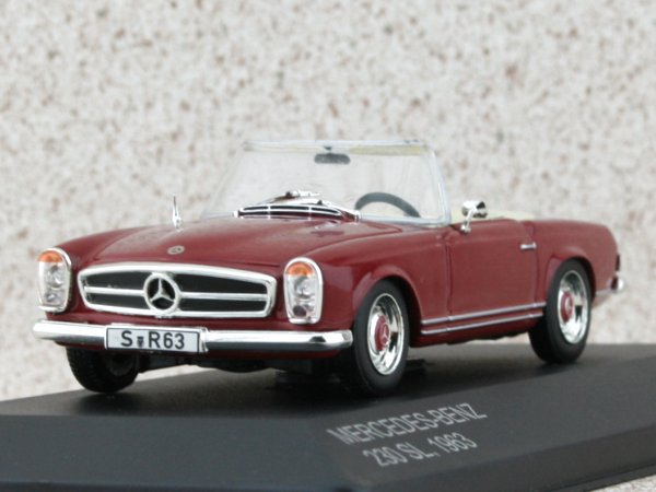 MB Mercedes Benz 230 SL - 1963 - darkred - WhiteBox 1:43