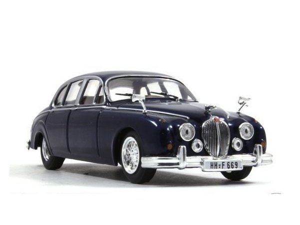 JAGUAR MK II - 1960 - bluemetallic - WhiteBox 1:43