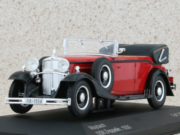 MAYBACH DS8 Zeppelin - 1930 - red / black - WhiteBox 1:43