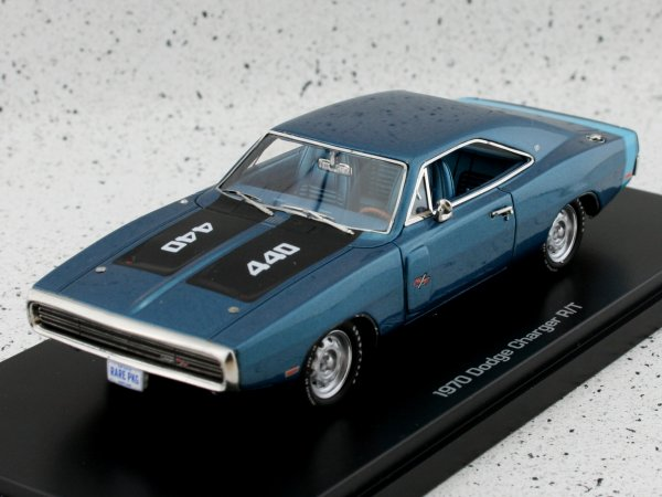 DODGE Charger R/T - 1970 - bluemetallic - Auto World 1:43