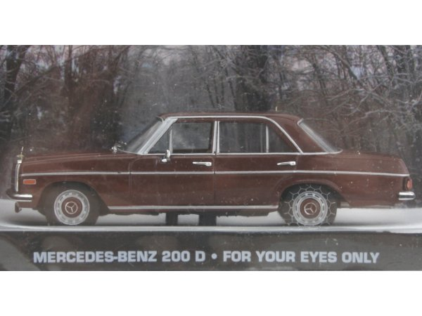 MB Mercedes Benz 200 D - brown - ATLAS 1:43