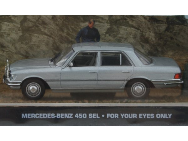 MB Mercedes Benz 450 SEL - silver - ATLAS 1:43