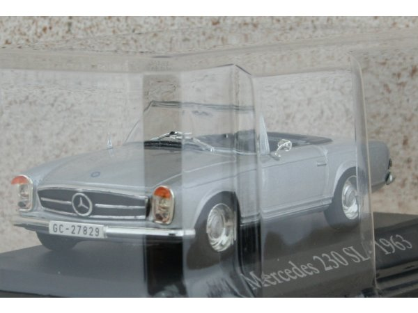 MB Mercedes Benz 230 SL - 1963 - silver - ATLAS 1:43