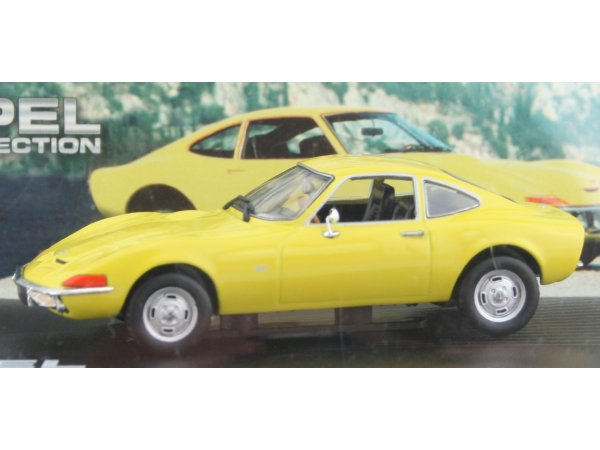 OPEL GT - yellow - ATLAS 1:43