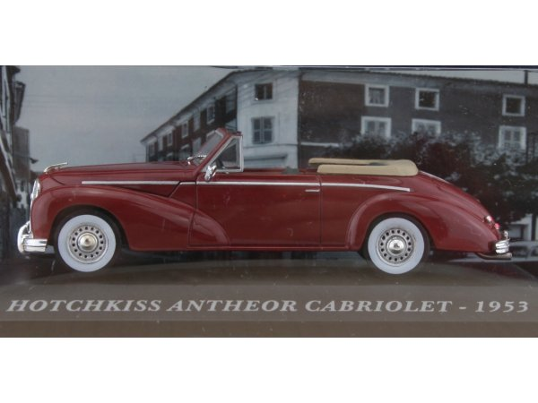HOTCHKISS Antheaor Cabriolet - 1953 - darkred - ATLAS 1:43