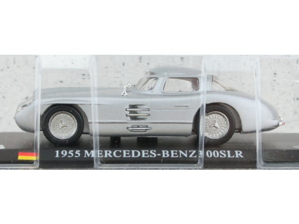 MB Mercedes Benz 300 SLR - 1955 - silver - ATLAS 1:43