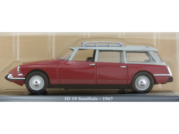 CITROEN ID 19 Break - 1967 - red - ATLAS 1:43