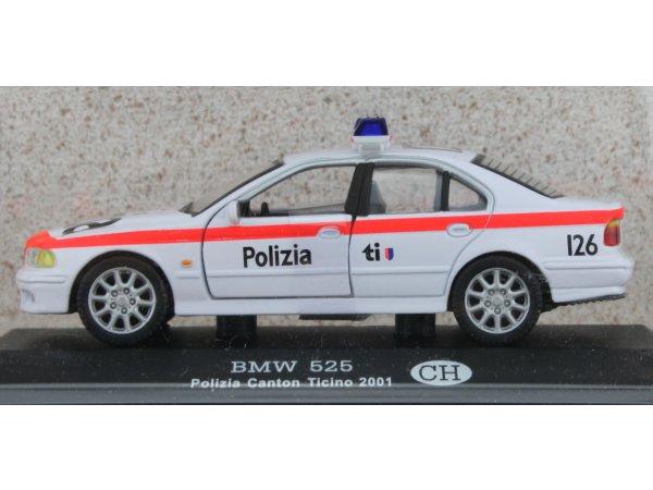 BMW 525 - 2001 - Police CH - ATLAS 1:43