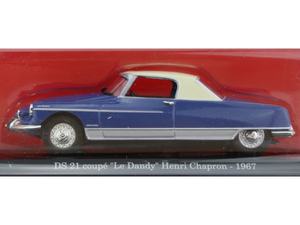 CITROEN DS 21 Coupe - Le Dandy - 1967 - blue - ATLAS 1:43