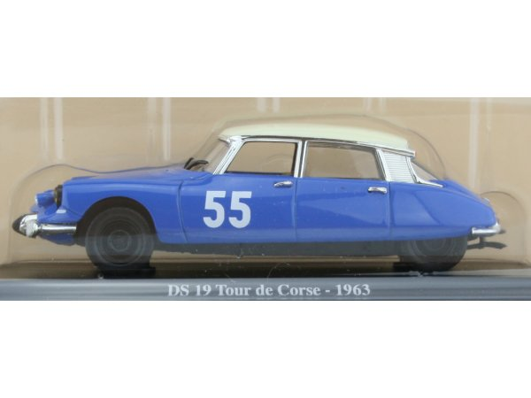 CITROEN DS 19 Tour de Corse - 1963 - blue - ATLAS 1:43