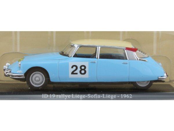 CITROEN ID 19 Ralley - 1962 - lightblue - ATLAS 1:43
