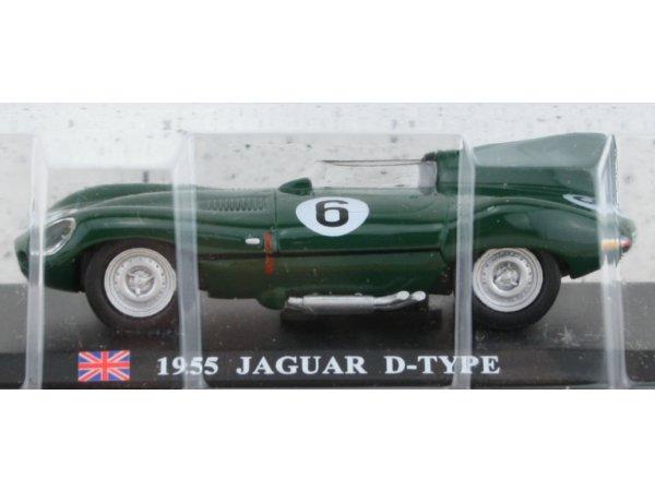 JAGUAR D-Type - 1955 - green - ATLAS 1:43