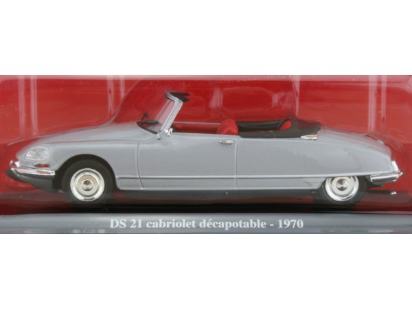CITROEN DS 21 Cabrio - 1970 - silver - ATLAS 1:43