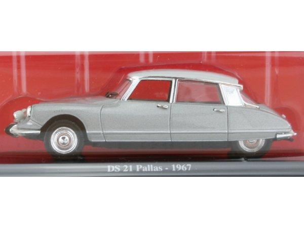 CITROEN DS 21 Pallas - 1967 - silver - ATLAS 1:43