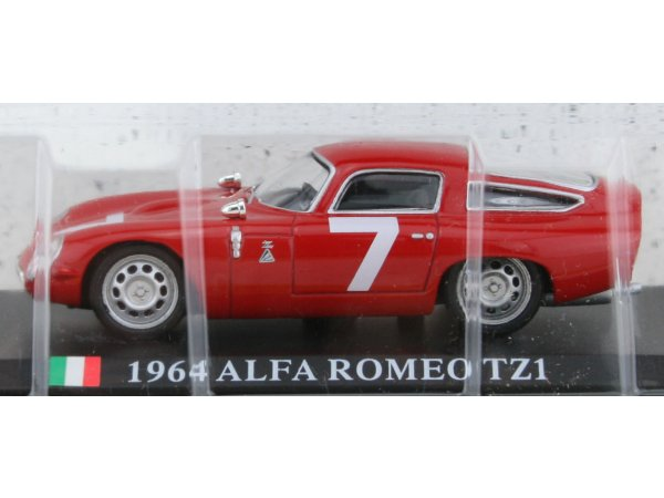 ALFA ROMEO TZ1 - 1964 - red - ATLAS 1:43