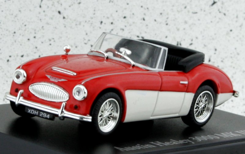 AUSTIN Healey 3000 MkIII - red / white - Atlas 1:43