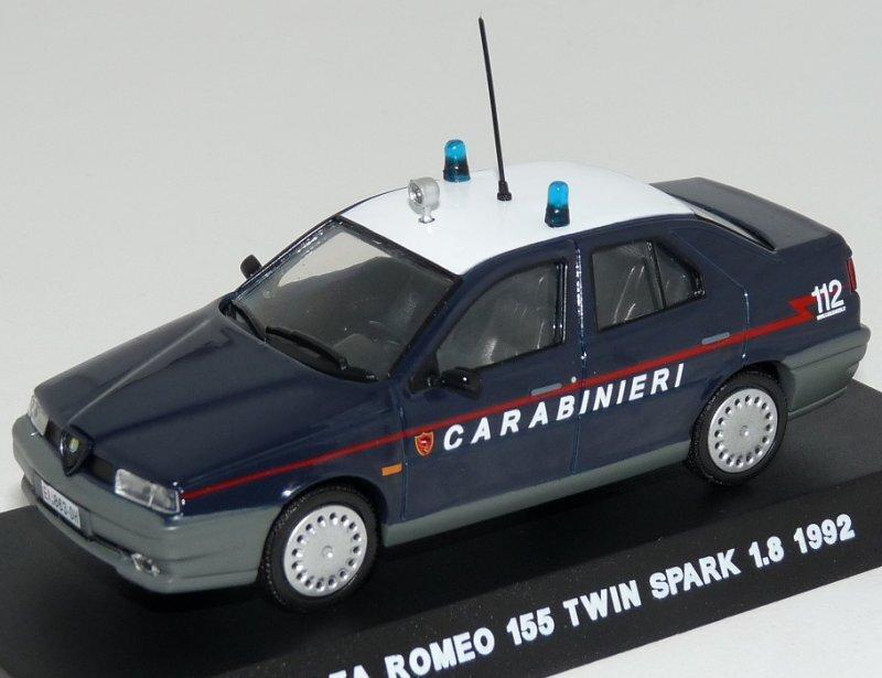 ALFA ROMEO 155 Twin Spark 1.8 - 1992 - Carabinieri - Atlas 1:43