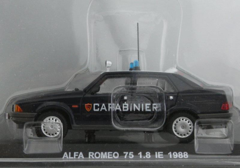 ALFA ROMEO 75 1.8 IE - 1988 - Carabinieri - Atlas 1:43