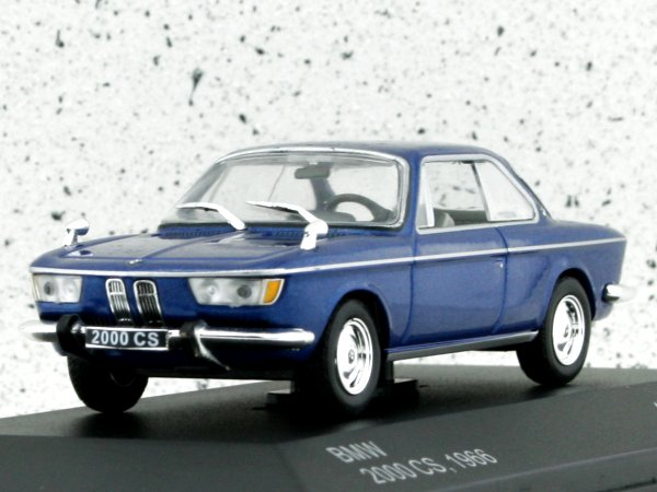 BMW 2000 CS - 1966 - bluemetallic - WhiteBox 1:43