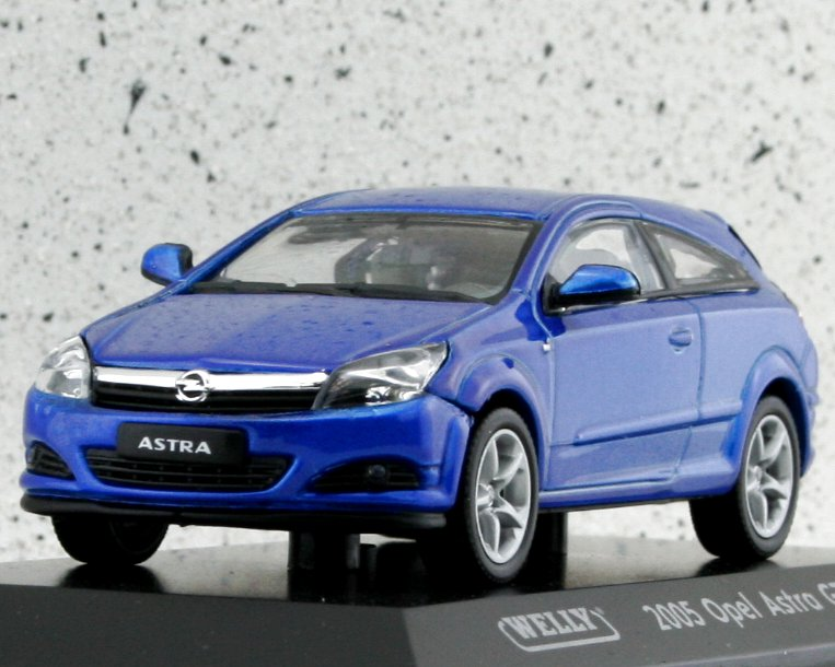 OPEL Astra GTC - bluemetallic - WELLY 1:43