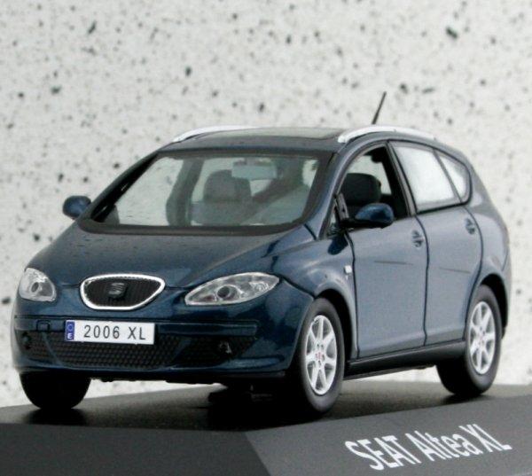 miniatuur 4 - SEAT Altea XL - bluemetallic - Dealer Model 1:43