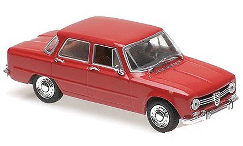 ALFA ROMEO Giulia 1600 - 1970 - red - Maxichamps 1:43