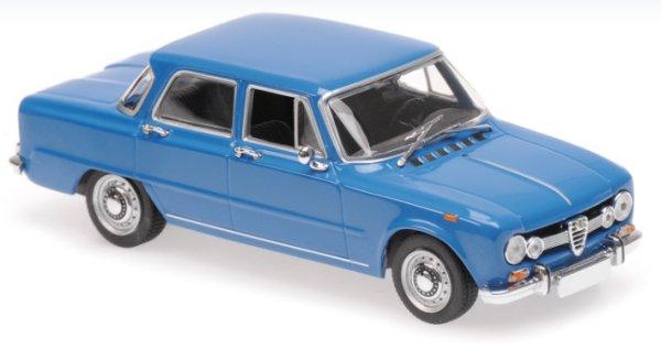 ALFA ROMEO Giulia 1600 - 1970 - blue - Maxichamps 1:43