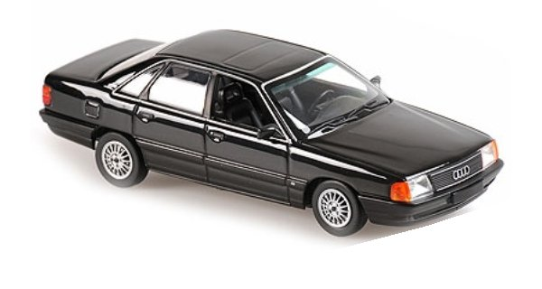 AUDI 100 - 1990 - blackmetallic - Maxichamps 1:43