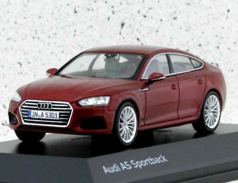 AUDI A5 Sportback - Matador redmetallic - AUDI Dealer 1:43