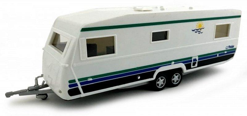Anhänger / Trailer / Wohnwagen / Camper - Polar - Cararama 1:43