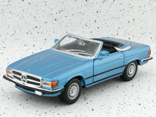MB Mercedes Benz 450 SL - bluemetallic - Bburago 1:32