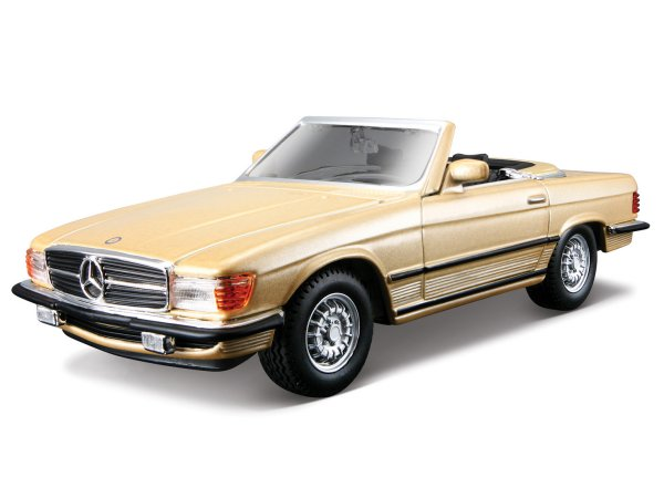 MB Mercedes Benz 450 SL - goldmetallic - Bburago 1:32
