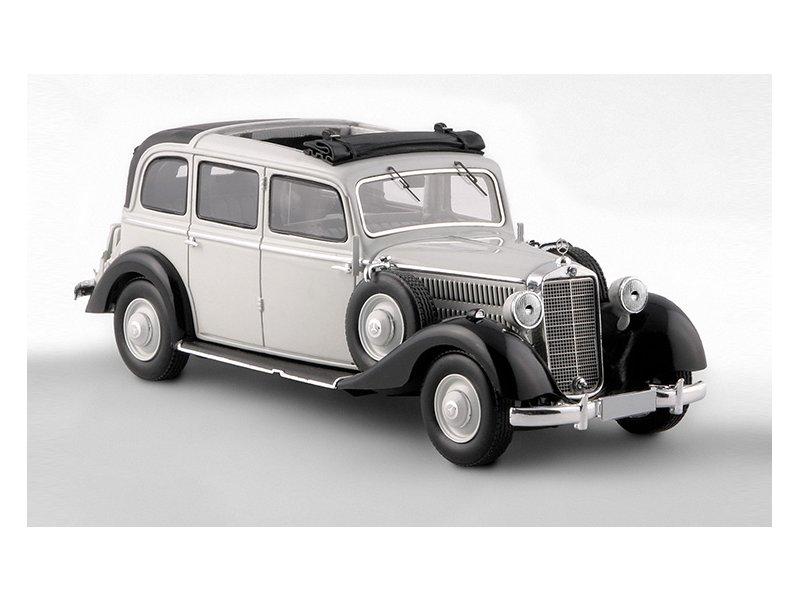 miniatuur 5 - MB Mercedes Benz 260D Pullman Landaulet - 1936 / 1940 - grey - ESVAL 1:43